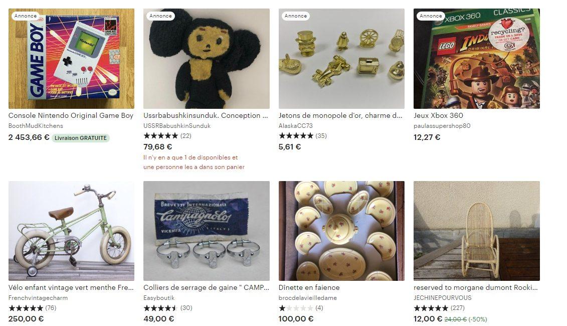 Vendre des articles de collection et objet vintage sur Etsy
