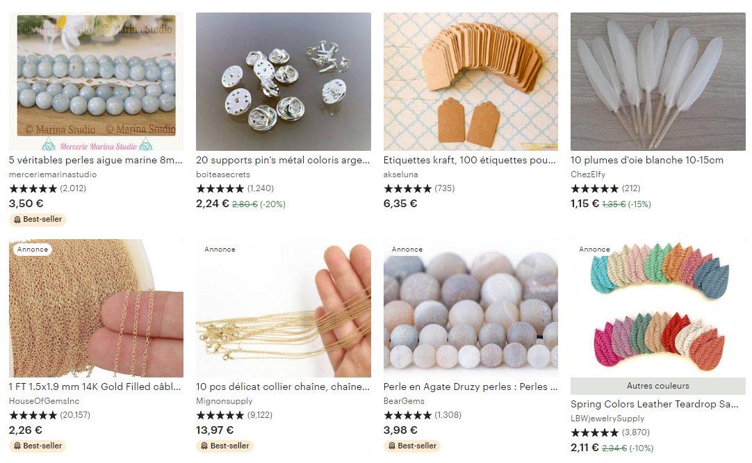 Vendre des fournitures et des outils d'artisanat sur Etsy