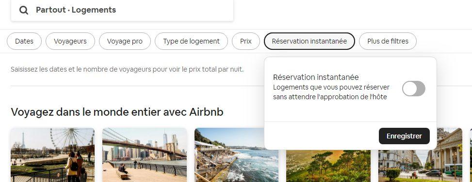 réservation instantanée astuce airbnb location